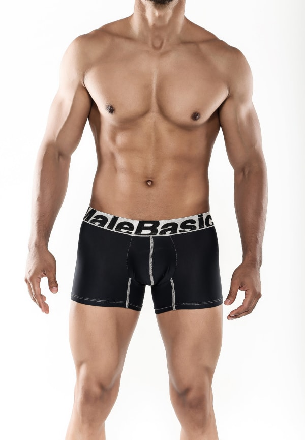 Men's Microfiber Short Boxer - Black Image 0