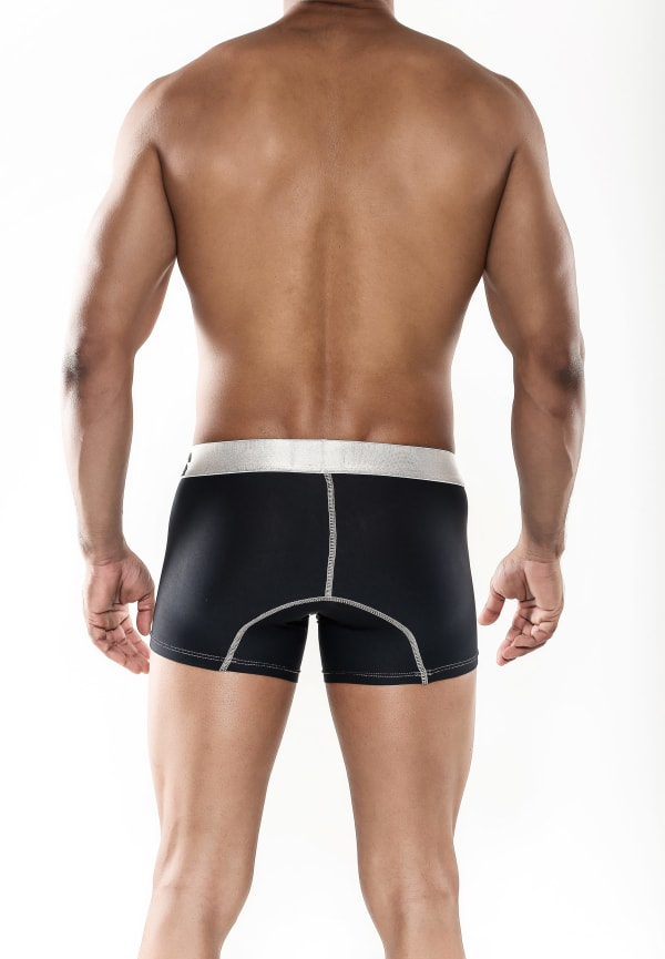 Men's Microfiber Short Boxer - Black Image 1