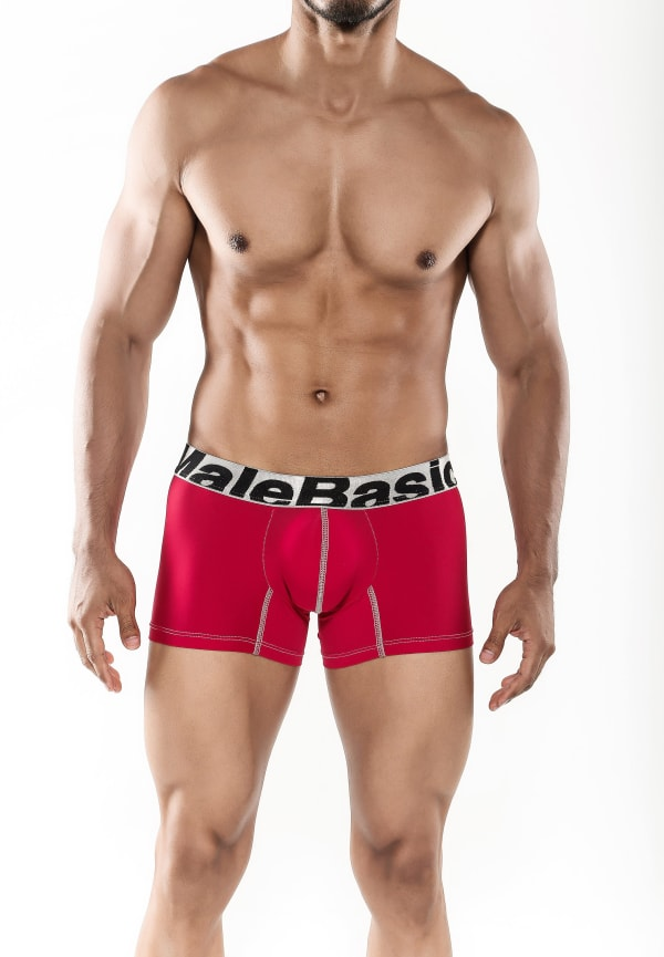 Men's Microfiber Short Boxer - Red Image 0