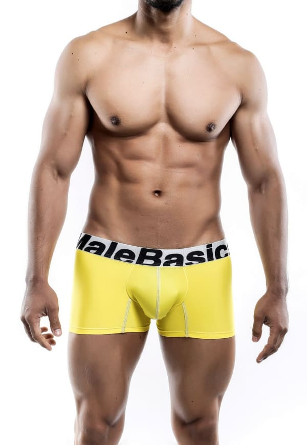 Men's Microfiber Short Boxer - Yellow Image 0