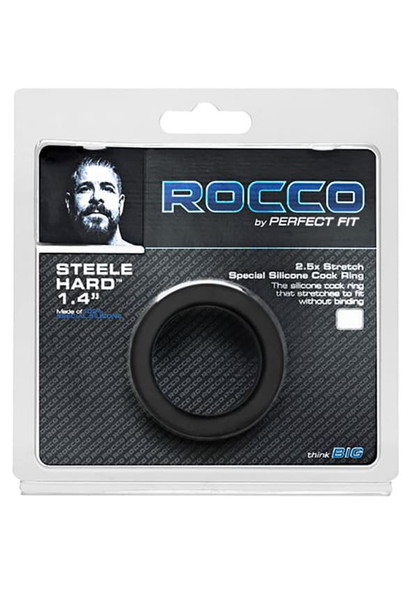 The Rocco Steele Hard Silicone Cock Ring Image 1