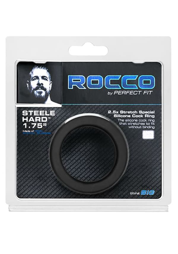 The Rocco Steele Hard Silicone Cock Ring Image 3