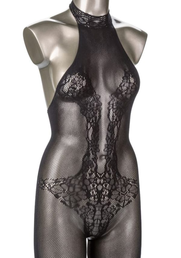 Scandal Halter Lace Body Suit  - One Size Image 1