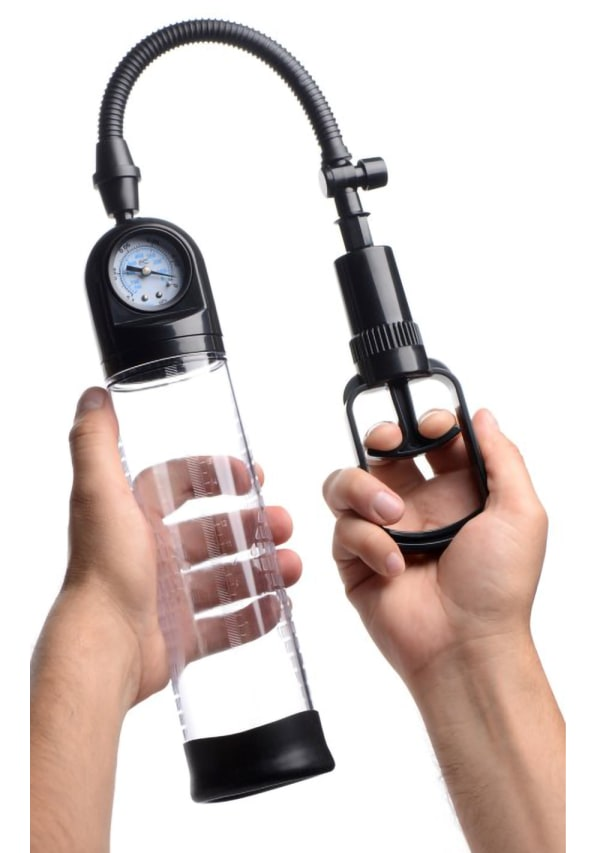 Size Matters Trigger Penis Pump with Built-In Pressure Gauge Image 3