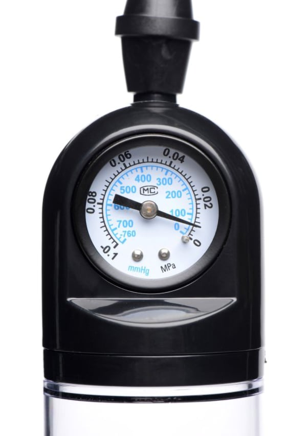 Size Matters Trigger Penis Pump with Built-In Pressure Gauge Image 2