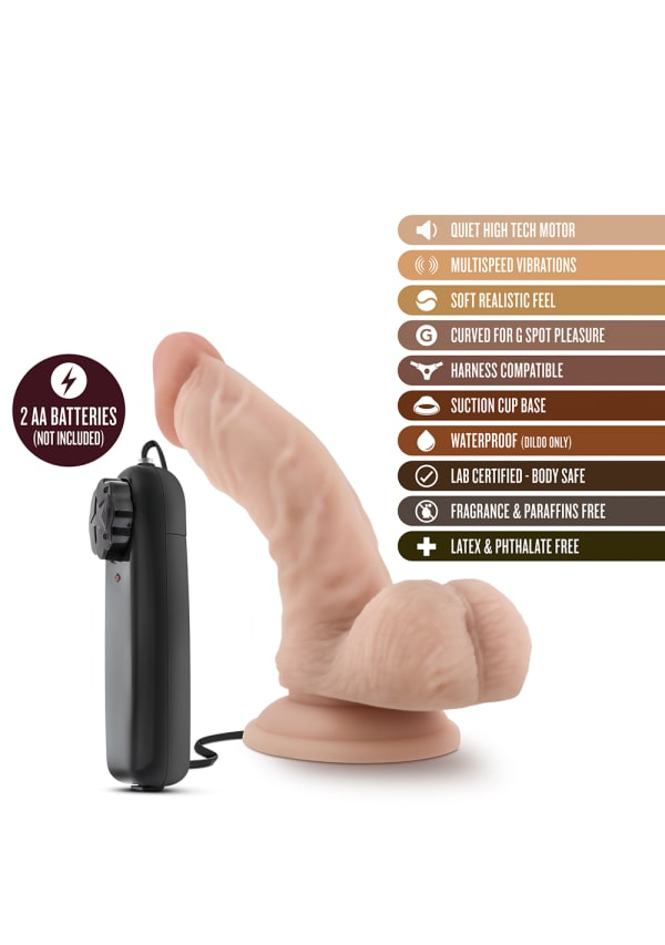 "Dr. Skin - Dr. Ken - 6.5"" Vibrating Cock with Suction Cup Image 5"