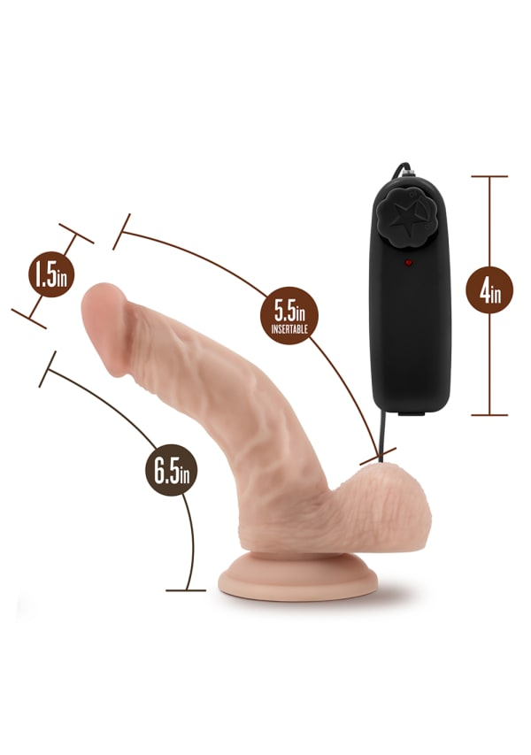 "Dr. Skin - Dr. Ken - 6.5"" Vibrating Cock with Suction Cup Image 6"
