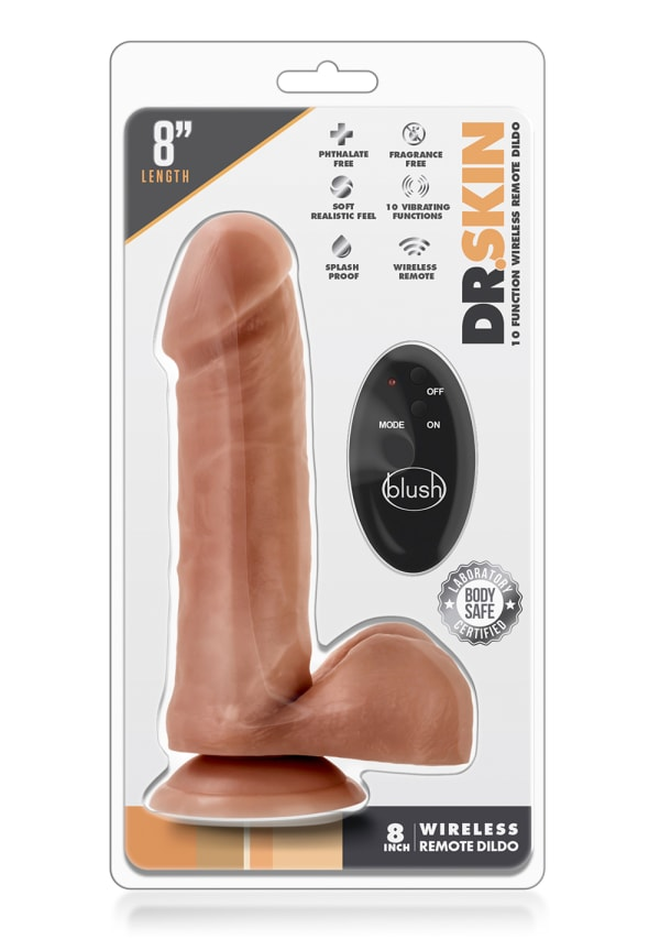 "Dr. Skin - 8"" 10 Function Wireless Remote Dildo Image 5"