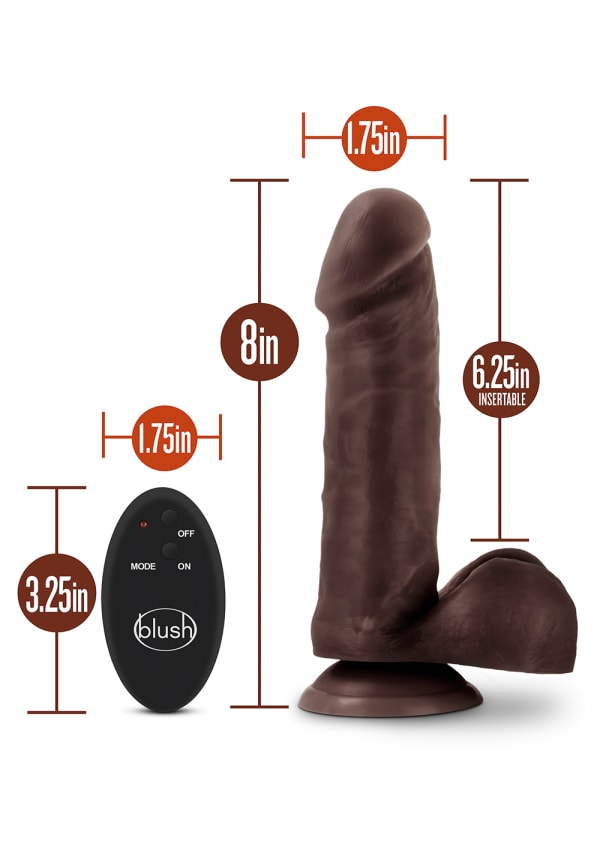"Dr. Skin - 8"" 10 Function Wireless Remote Dildo Image 1"