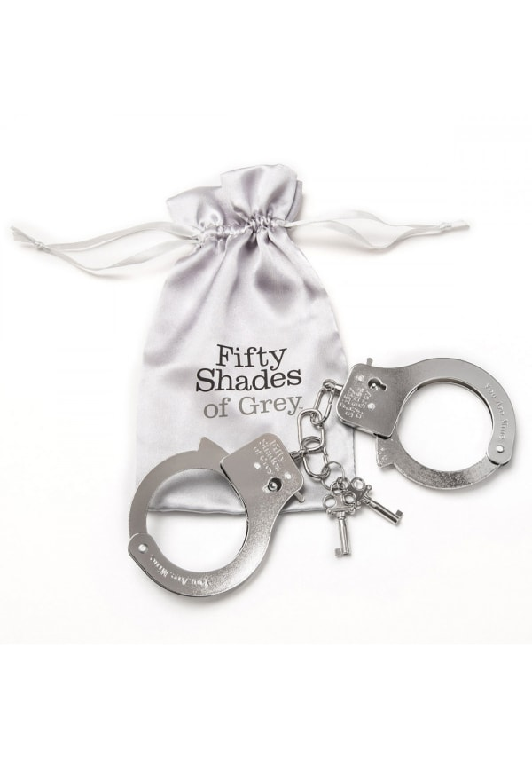 Fifty Shades - You Are Mine Metal Handcuffs Image 1