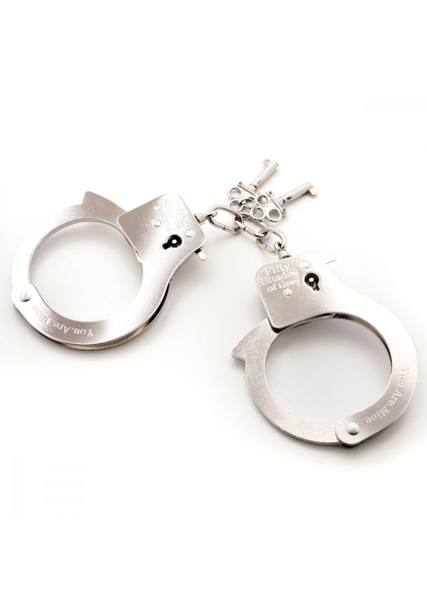 Fifty Shades - You Are Mine Metal Handcuffs Image 3