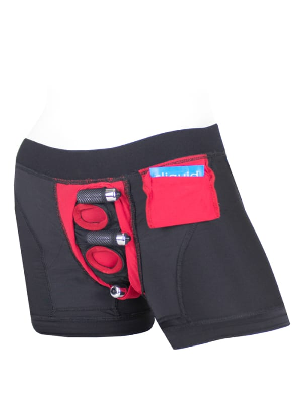 Tomboii Fabric Boxer Brief Harness Red Image 4