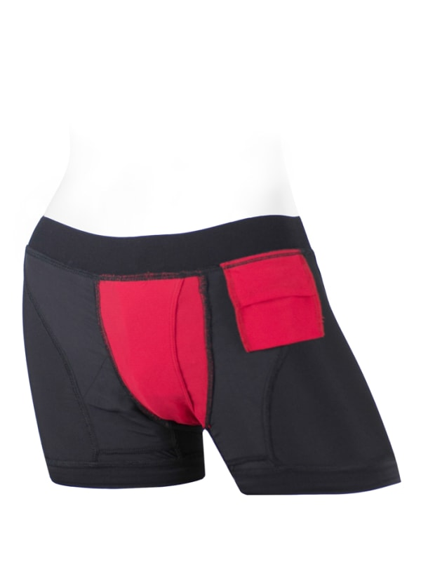 Tomboii Fabric Boxer Brief Harness Red Image 3