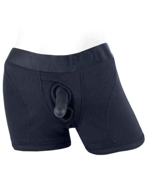Tomboii Fabric Boxer Brief Harness Black Image 5