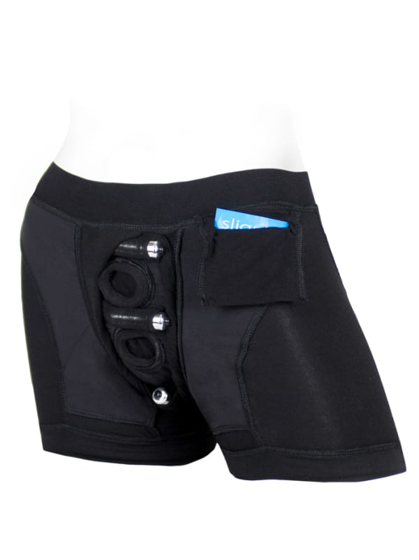 Tomboii Fabric Boxer Brief Harness Black Image 4