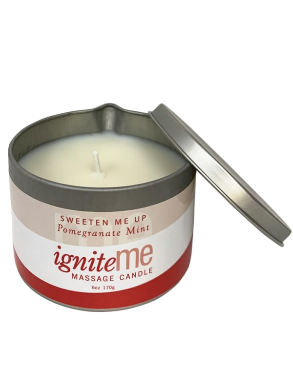 Ignite Me Massage Candle Sweeten Me Up (Pomegranate Mint) Image 1