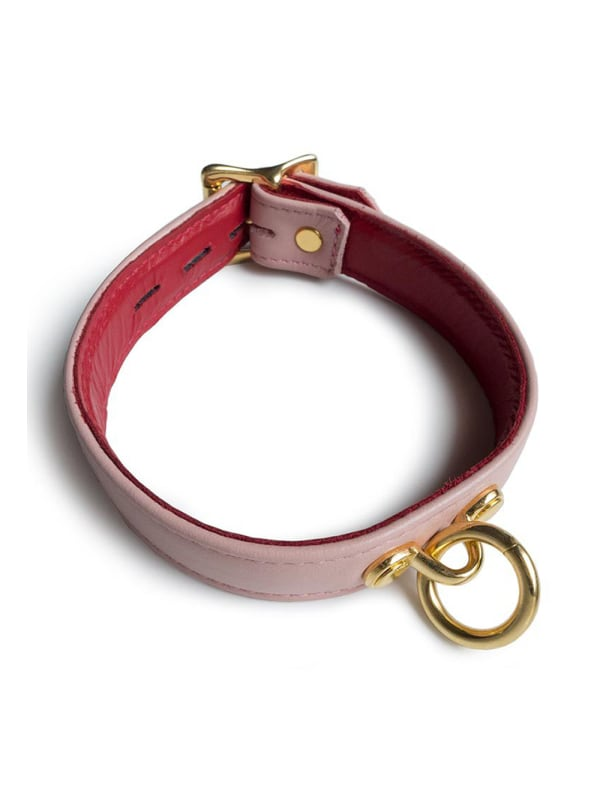 Blush Leather Collar Image 0