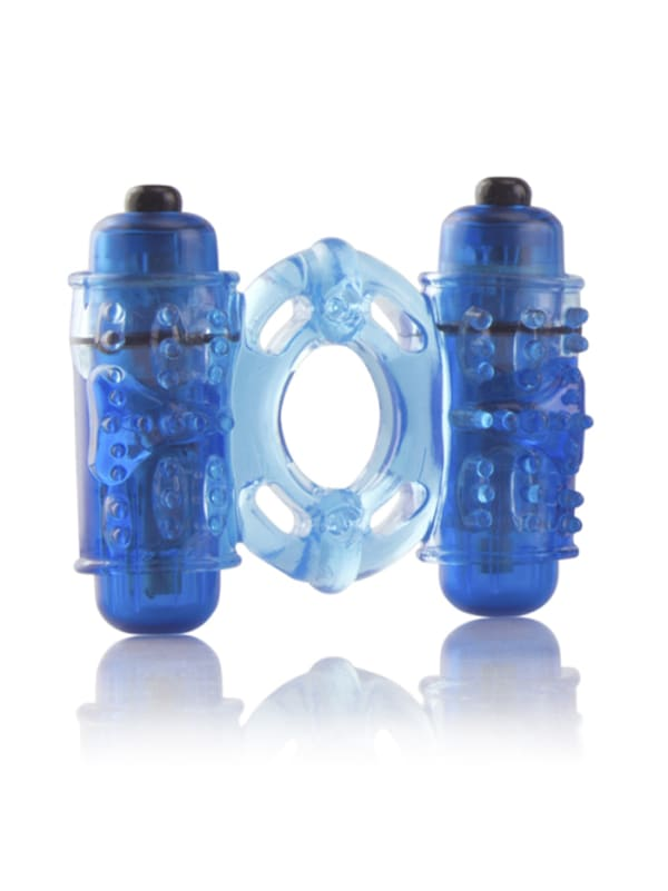 OWow Double Wammy Vibrating Ring Image 1