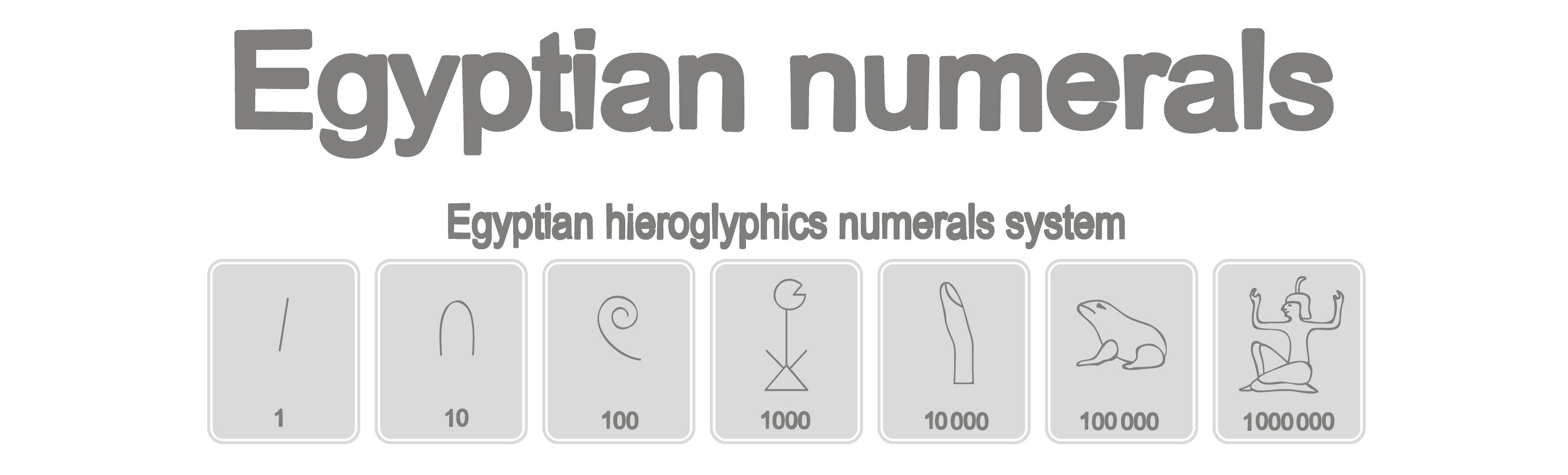 Egyptian hieroglyphic numbers