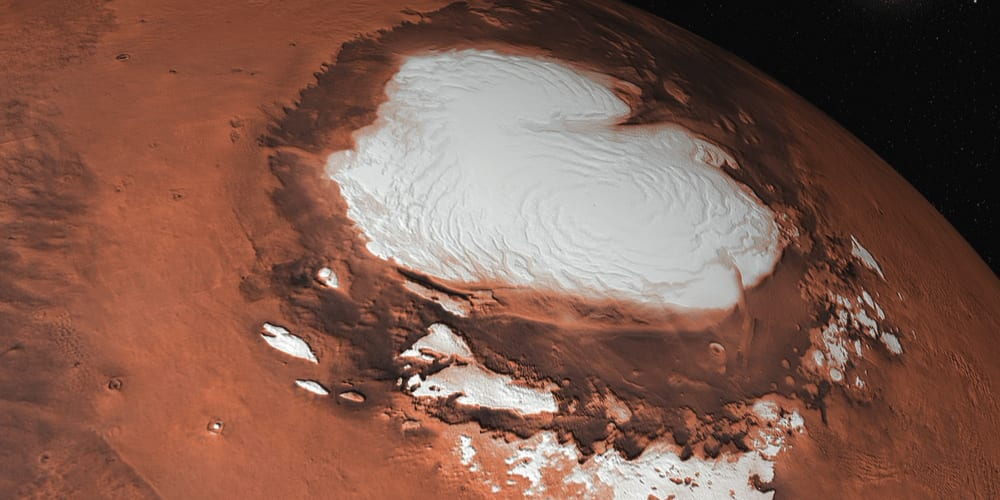 Snow cap on Mars