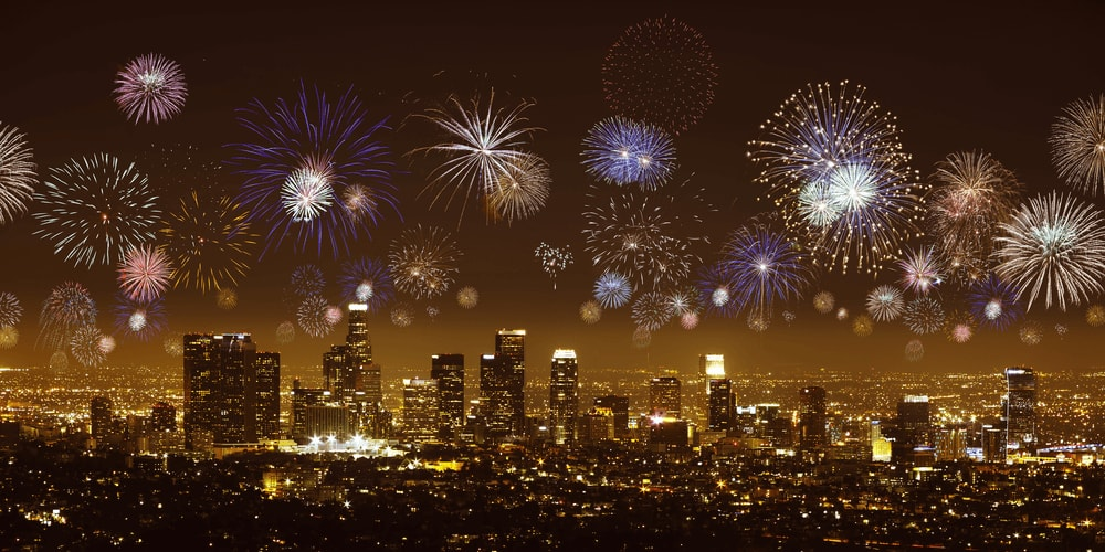 New Year in Los Angeles