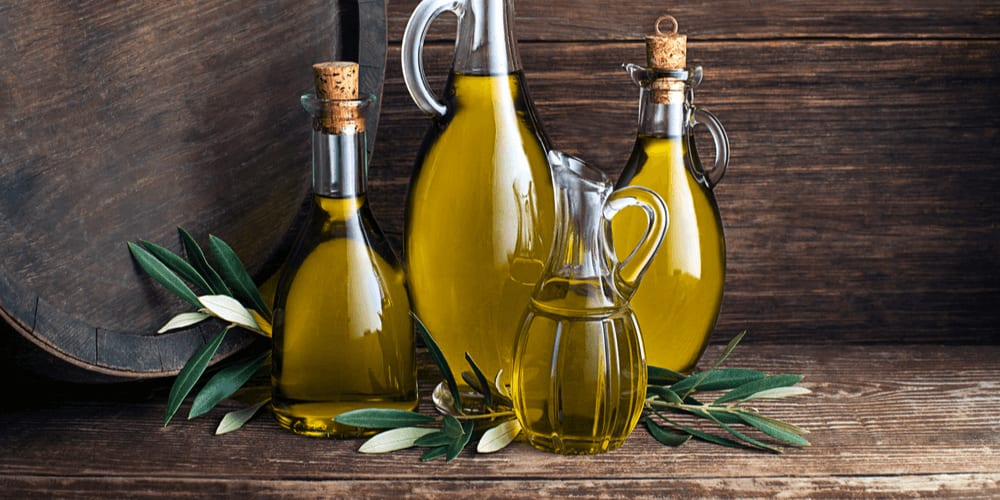 How much olive oil is there in the barrel?