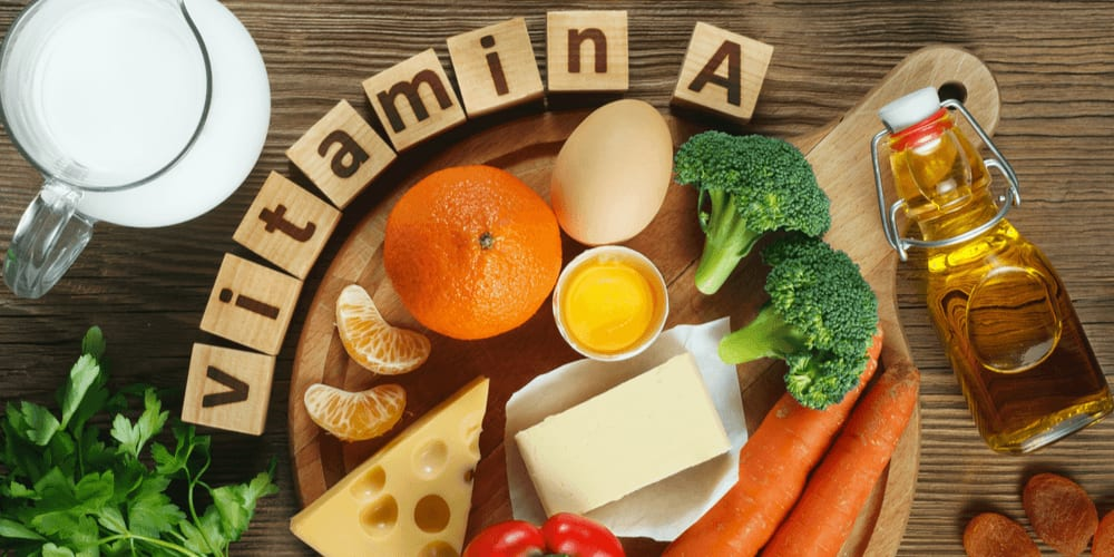 Vitamin A is found in red and orange produce