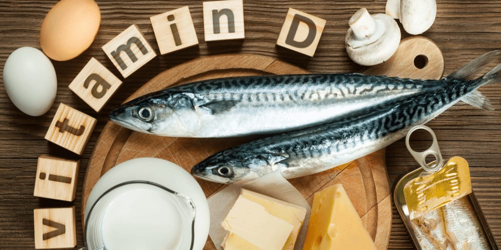 Vitamin D is found in caviar and fatty fish, sour cream, egg yolks, butter, milk, and liver