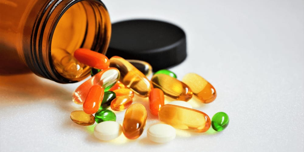 Vitamin supplements from a pharmacy