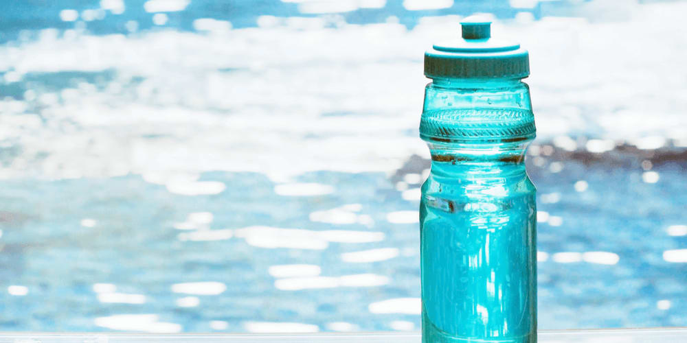 Stop buying bottled water and use a reusable glass water bottle