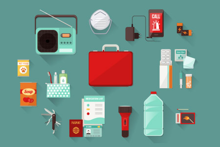 Items to include in an emergency supplies kit