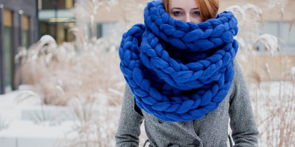 Girl in a blue scarf