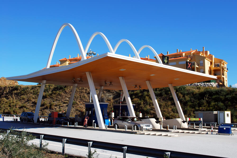Toll plaza in Calahonda, Spain