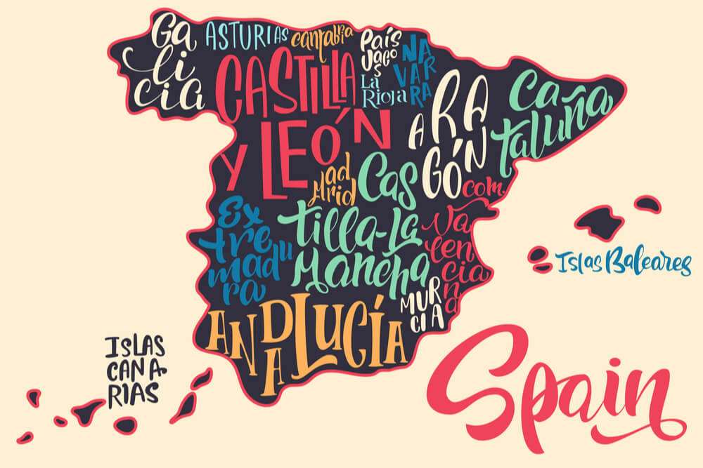 the map of Spain