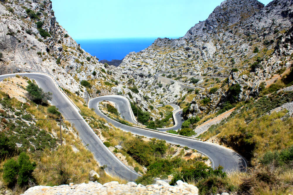 Cyclists come to Mallorca to enjoy its peculiar terrain.