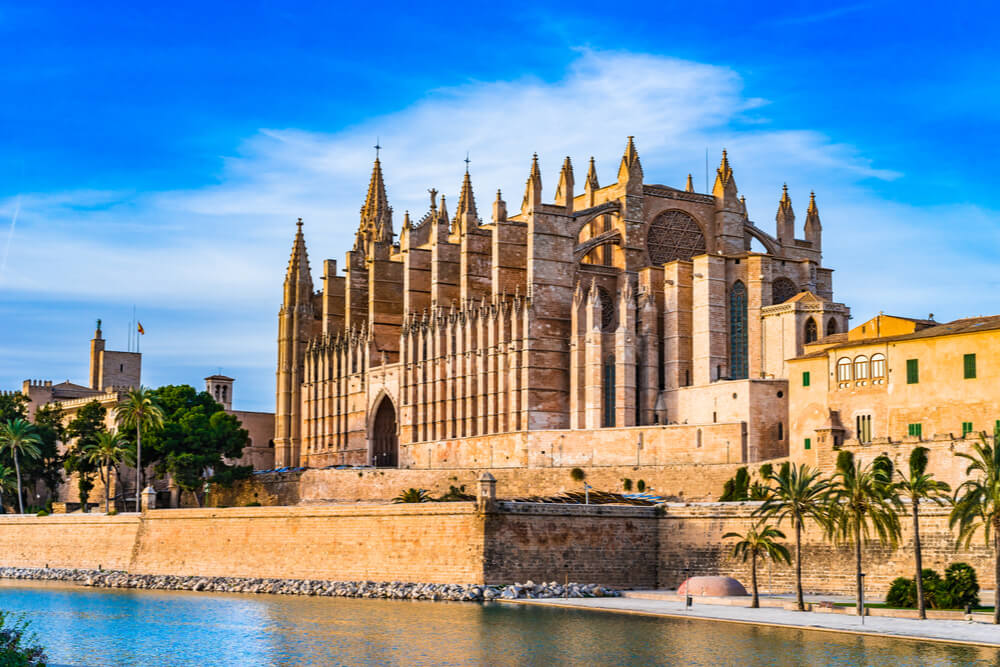La Seu Cathedral in Palma, Mallorca, is one of the most significant remnants of the island's ancient history.