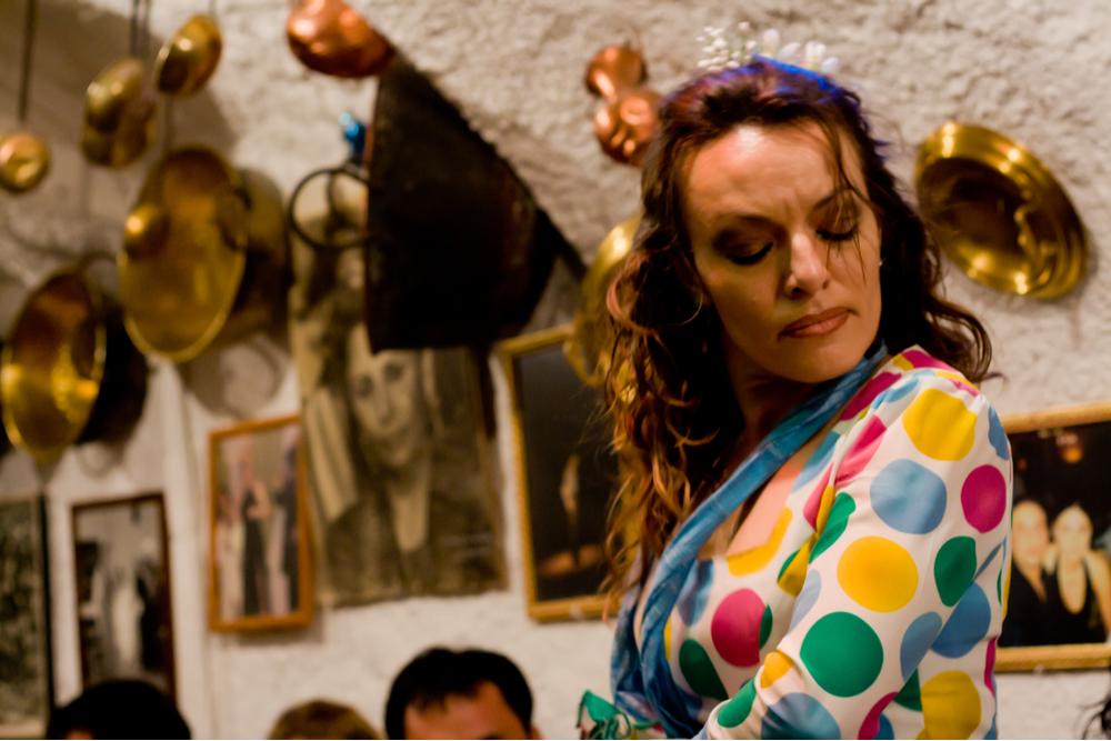 Flamenco performance in typical Sacromonte quarter cave, in Granada, Spain