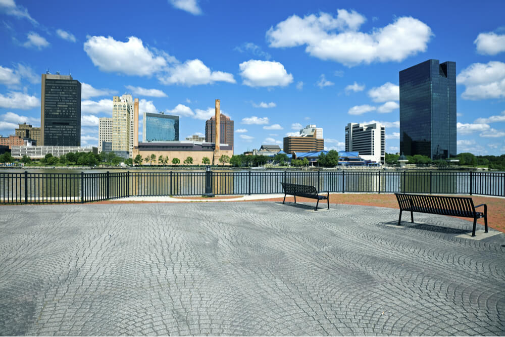 A View of Toledo, Ohio, USA