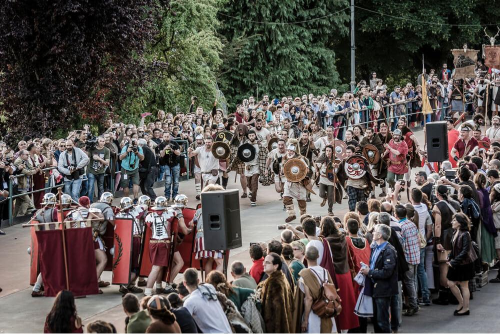 A conclusive Roman victory over Celts.