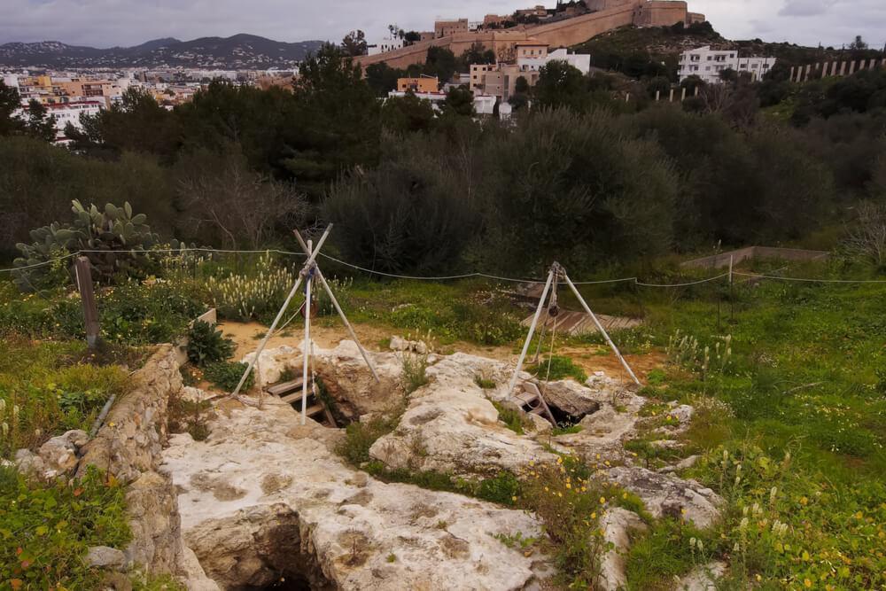 Necropolis de Puig des Molins, Ibiza, Balearic Islands, Spain