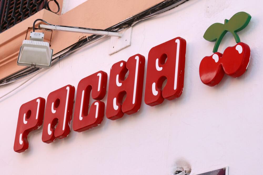 Pacha brand logo in Ibiza, Spain
