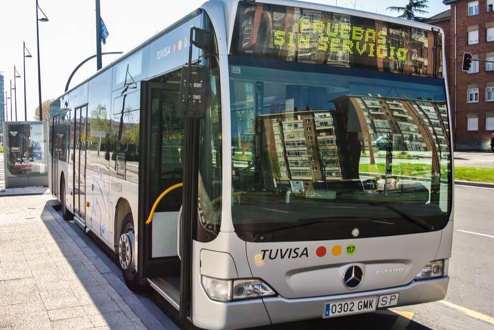 Urban bus in the city of Vitoria, Spain