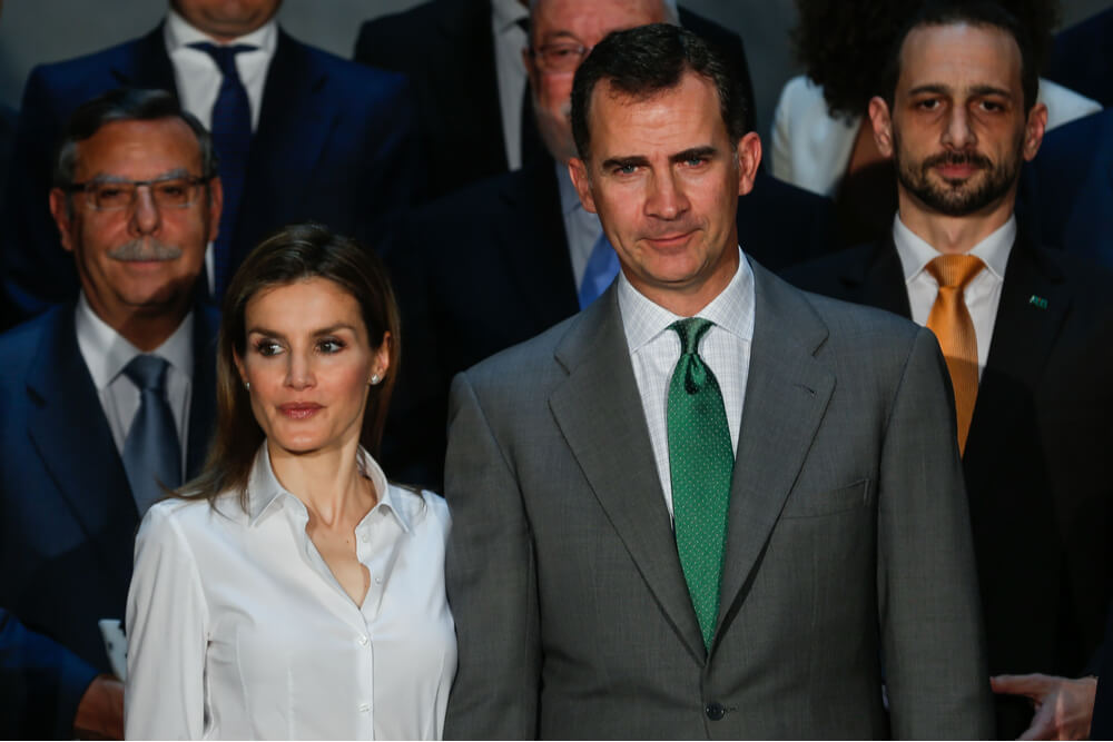 King Felipe and his wife Queen Letizia