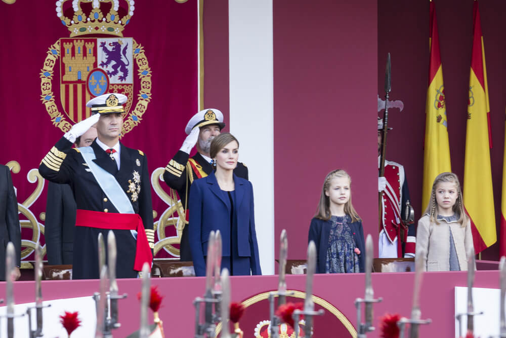 King Felipe, Queen Letizia, and their two daughters