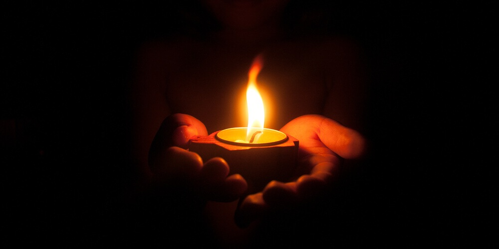 Candle in a child's hands