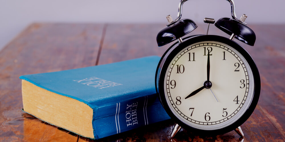 Bible and a clock