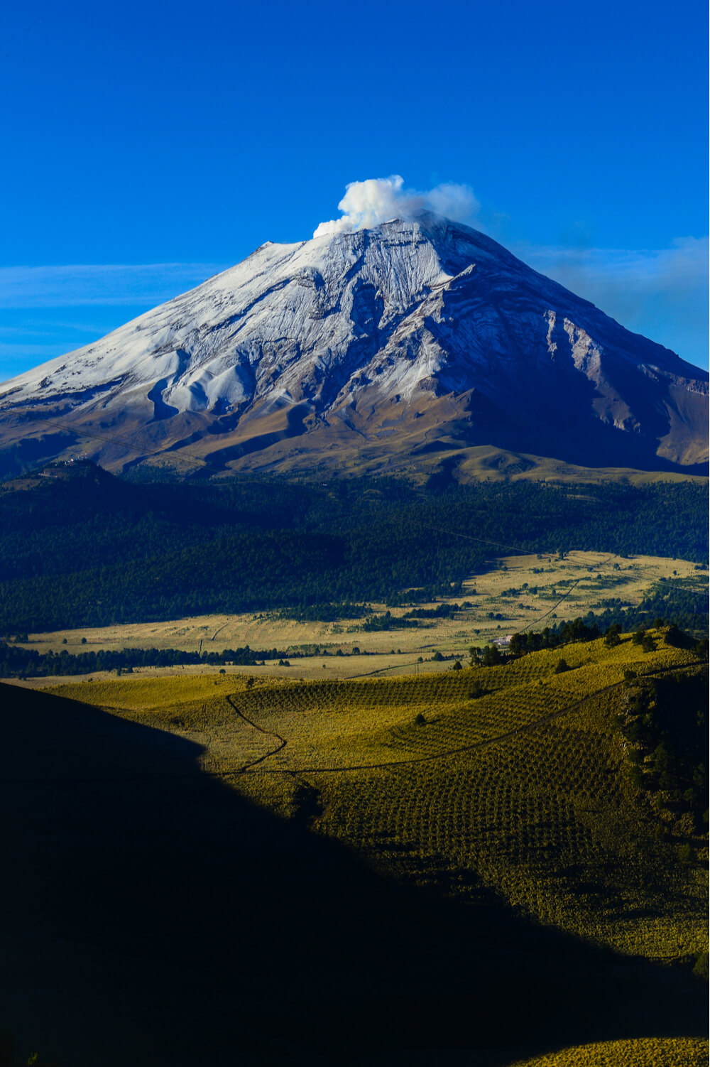 """Popocatepetl is one of the active volcanoes in the """"Ring of Fire""""."""