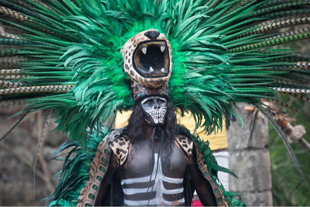 Olmecs worshipped a god who was part human part jaguar.