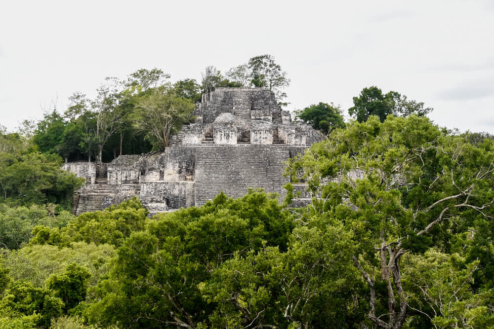 the Great Pyramid in Calakmul most likely is a royal resting place