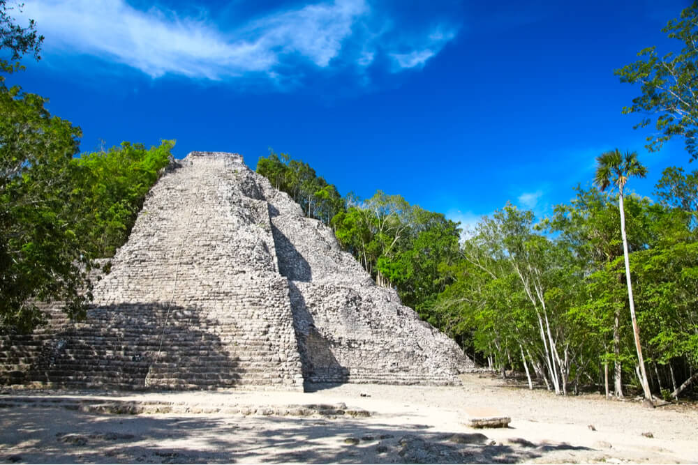 Nohoch Mul is the tallest pyramid in the Yucatan